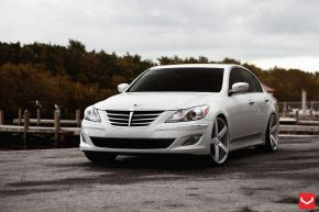 Hyundai Genesis | VVSCV3 - Matte Silver Machined - F: 22x9 / R: 22x10